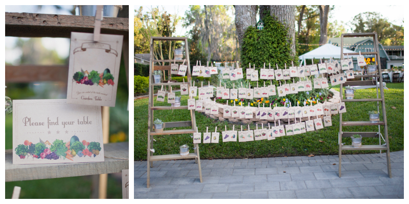 Seed Packets Table Assignments | Outdoor Wedding Park Venue Farmer's Market Anna Christine