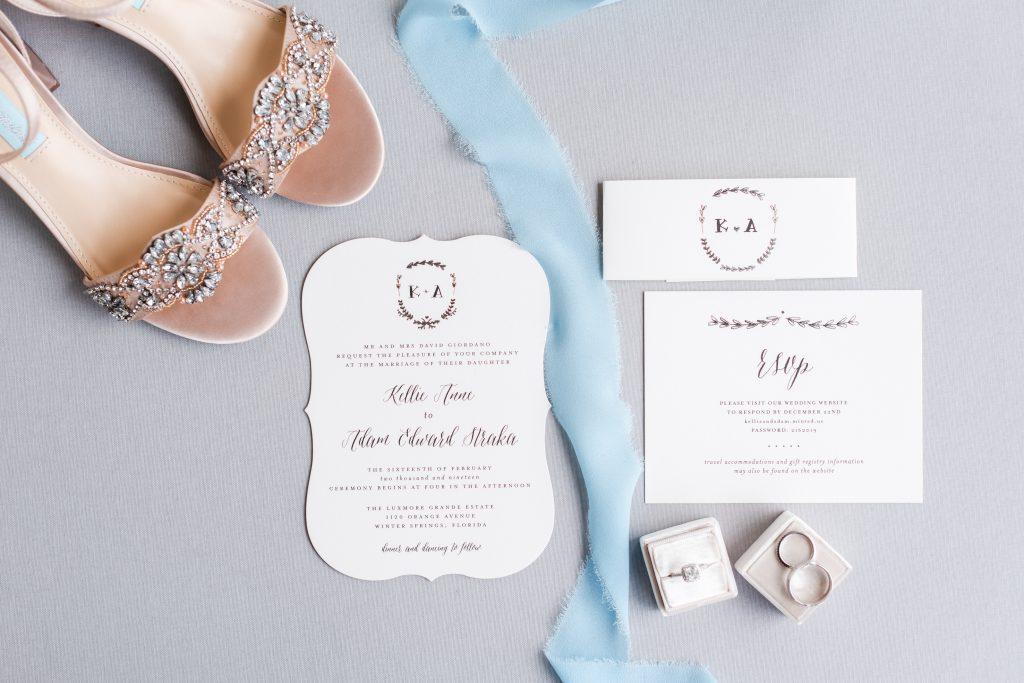 Shoes Wedding Ring Invitations Ribbon | Blue & White Wedding Luxmore Grand Estate Anna Christine Events