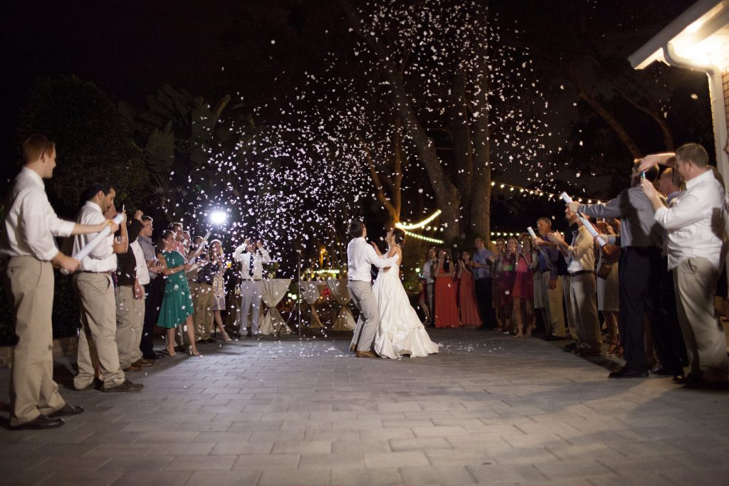 Poppers Confetti Outside Goodbye Finale | Outdoor Wedding Park Venue Farmer's Market