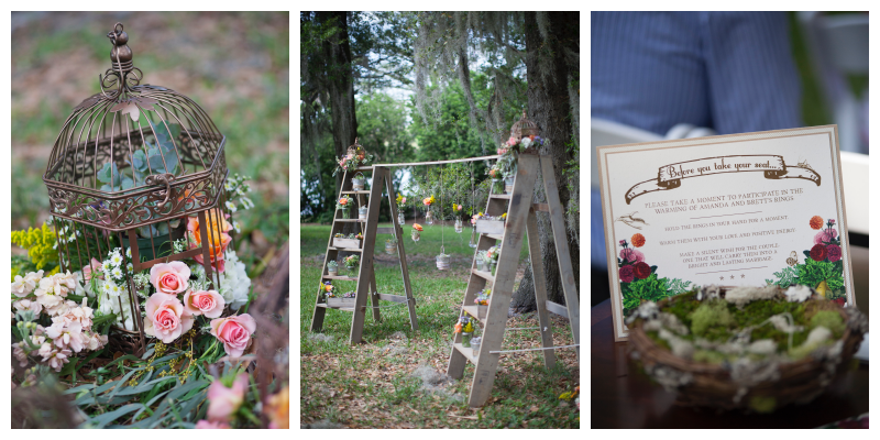 Wedding Arch Ladders Flowers Outdoor Birdcage Decor Ring Warming Ceremony Bird's Nest | Outdoor Wedding Park Venue Farmer's Market