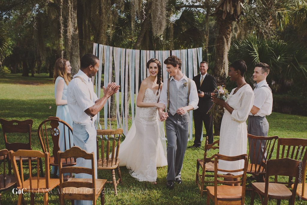 Outdoor Backyard Wedding Rustic Cozy | Anna Christine Events Orlando Central Florida Wedding Planner | Natural Nature Bride & Groom