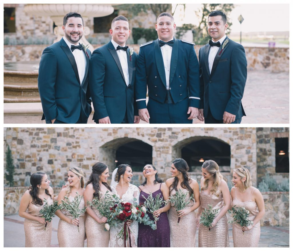 Getting Ready Bridesmaids Bride Groom Groomsmen | Boho Chic Rustic Nature Bella Collina Wedding Anna Christine Events Black & Hue Photography