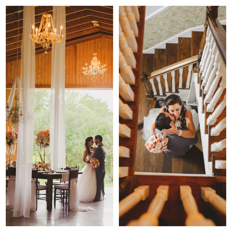Venue Up the Creek Farms Barn Chandeliers Tree Swing | Labryinth Inspired Whimsical Wedding David Bowie Ballroom Scene Gold White Pink Brown Anna Christine Events