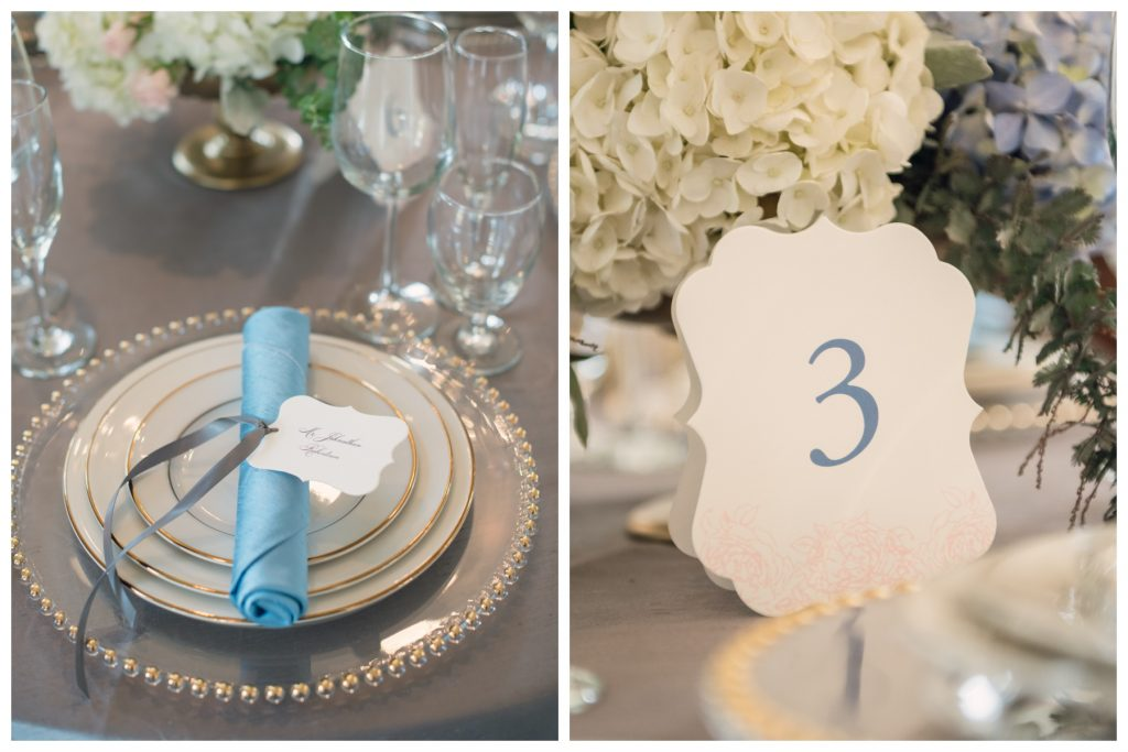 Reception Dinner Dogwood Blossom Stationery Bluegrass Chic | Wedding Photo Shoot Historic Estate Capen Showalter House Serenity Rose Quartz Florida Anna Christine Events