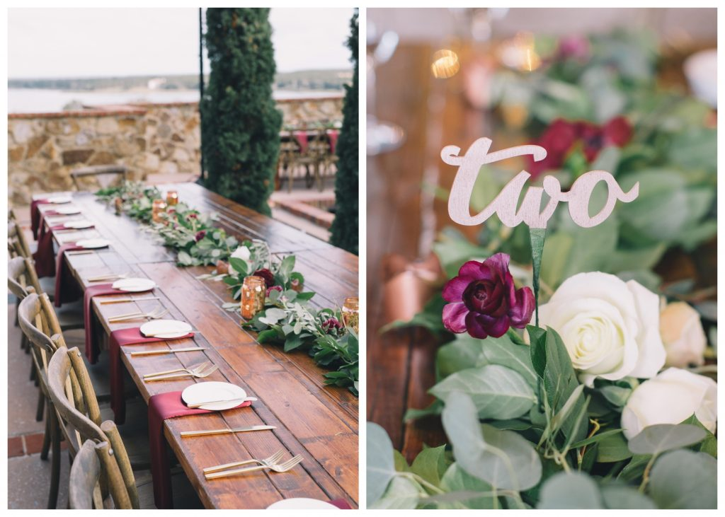 Table Setting Number | Boho Chic Rustic Nature Bella Collina Wedding Anna Christine Events Black & Hue Photography