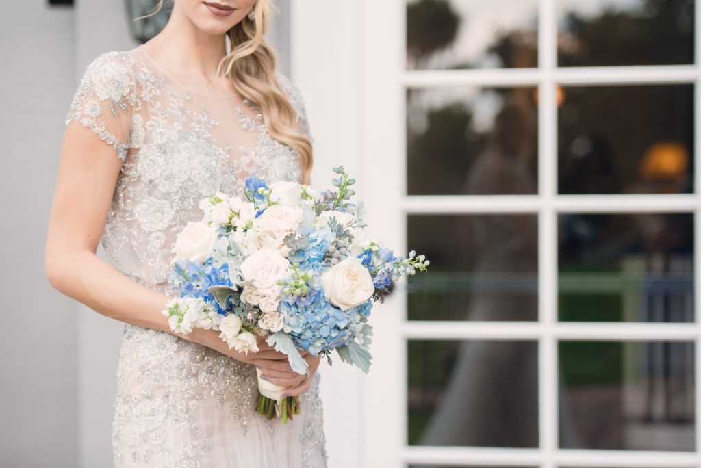 Bride The Collection Bridal Wedding Dress Maria Elena Headpieces Outside Venue Bouquet Bluegrass Chic | Wedding Photo Shoot Historic Estate Capen Showalter House Serenity Rose Quartz Florida Anna Christine Events