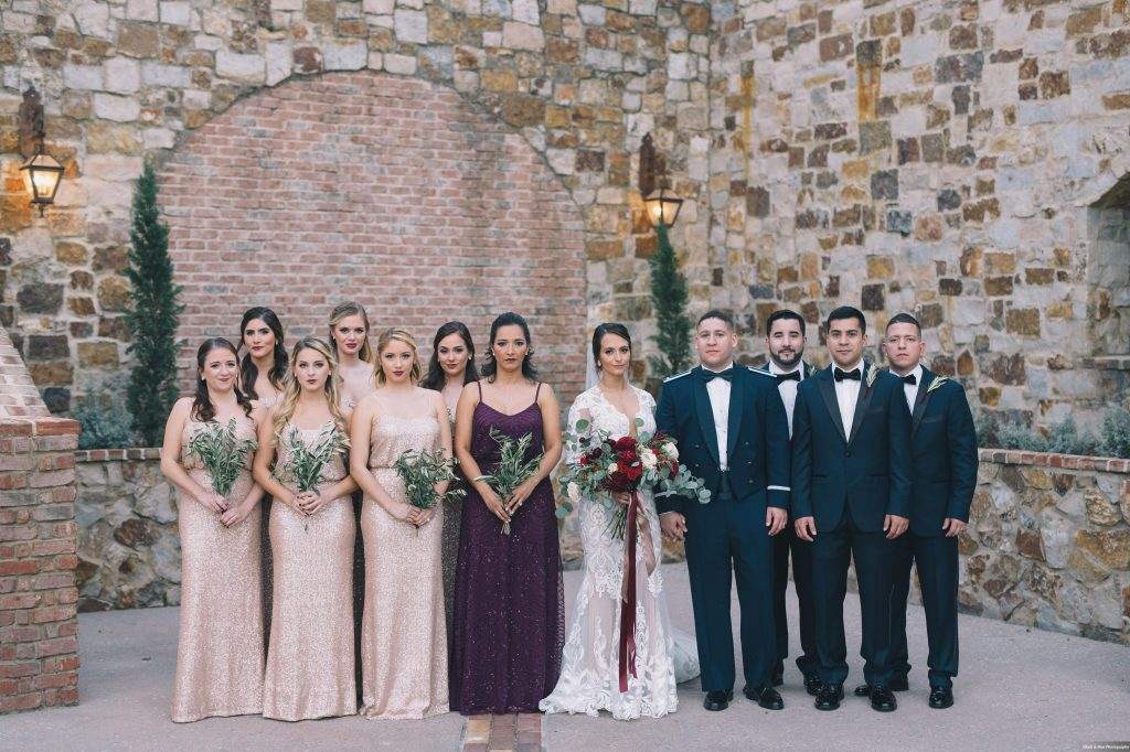 Wedding Party Bride & Groom First Look | Boho Chic Rustic Nature Bella Collina Wedding Anna Christine Events Black & Hue Photography