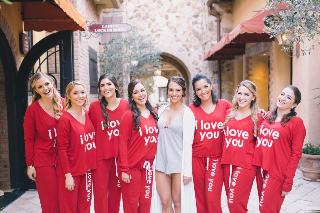 Getting Ready Bride Bridesmaids Matching Pajamas | Boho Chic Rustic Nature Bella Collina Wedding Anna Christine Events Black & Hue Photography