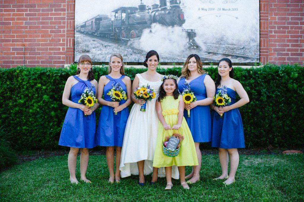 Bride & Bridesmaids Train Flower Girl | Fun Doctor Who British Wedding Pop Culture Geek Anna Christine Events Winter Park Farmers Market Orlando
