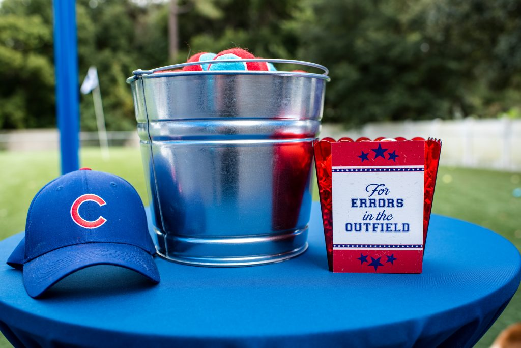 Cubs Hat Baseballs Doggie Bags | Carter the Corgi Birthday Party Baseball Theme Orlando Canine Country Club Anna Christine Events Cute
