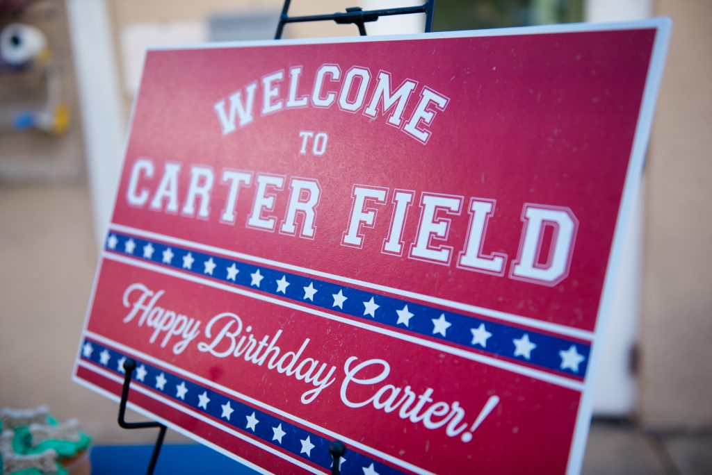 Welcome Sign Carter Field | Carter the Corgi Birthday Party Baseball Theme Orlando Canine Country Club Anna Christine Events Cute