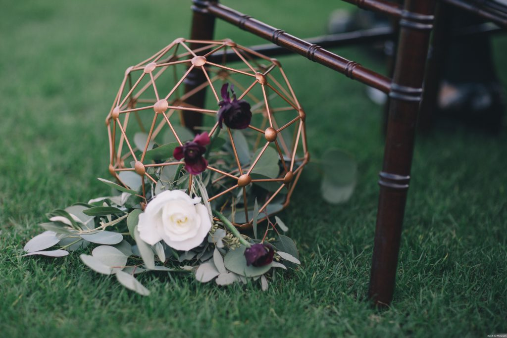 Geometric Ball Flowers Ceremony Aisle Decor | Boho Chic Rustic Nature Bella Collina Wedding Anna Christine Events Black & Hue Photography