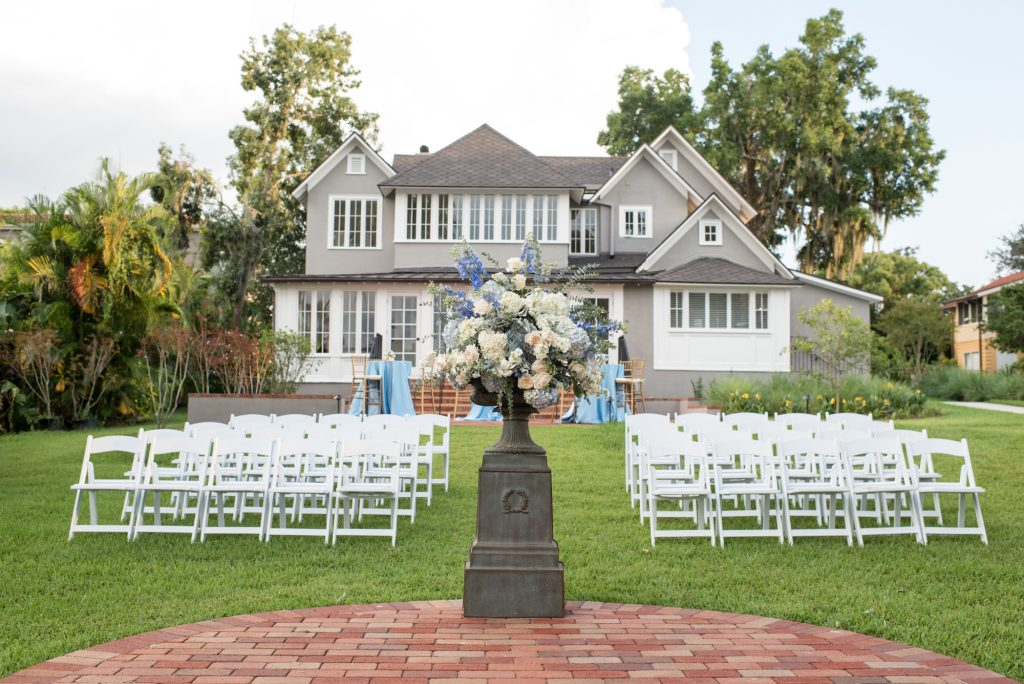 Ceremony Venue | Wedding Photo Shoot Historic Estate Capen Showalter House Serenity Rose Quartz Florida Anna Christine Events