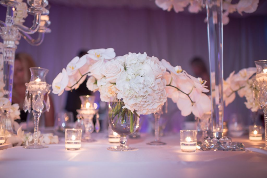 Flower Detail Raining Roses Candles | Our DJ Rocks 5 Year Anniversary Party Heaven Event Center Anna Christine Events
