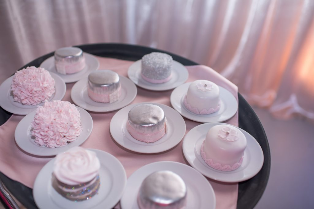 Mini Cakes Sparkly Shiny | Our DJ Rocks 5 Year Anniversary Party Heaven Event Center Anna Christine Events