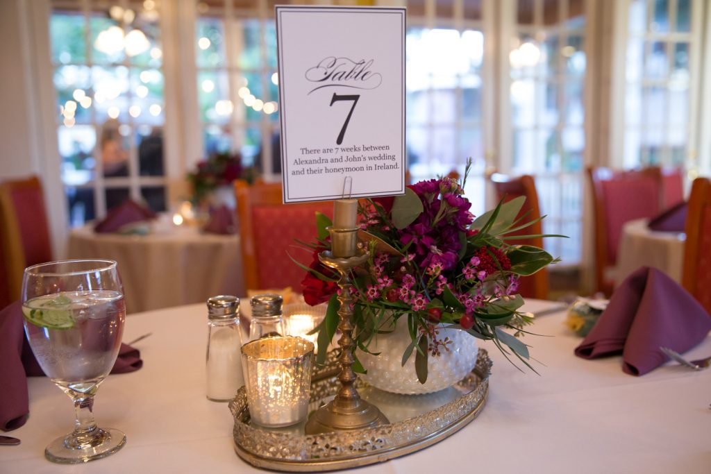 Table Number Personal Memories | Classic Purple & Orange Wedding Football Texas Longhorns Sports Lake Lucerne Courtyard Anna Christine Events Orlando Kathy Thomas Photography