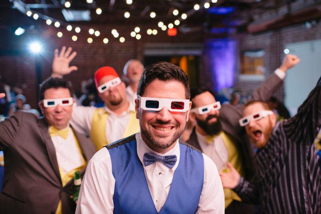 Dance Floor Reception Groom & Groomsmen 3D Glasses | Fun Doctor Who British Wedding Pop Culture Geek Anna Christine Events Winter Park Farmers Market Orlando