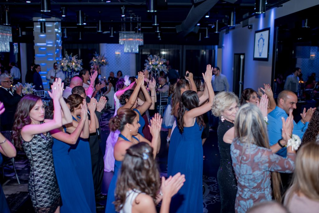 Reception Dance Party | Blue & White Glamorous Wedding The Abbey The Mezz Anna Christine Events Kathy Thomas Photography