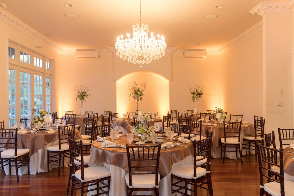 Chandelier Ballroom Dining Room Reception | Travel Inspired Themed Glamorous Gold & White Wedding Luxmore Grande Estate Anna Christine Events Justin DeMutiis Photography
