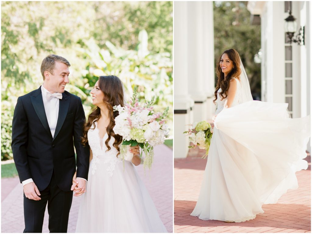 Bride & Groom First Look Photo Shoot | Travel Inspired Themed Glamorous Gold & White Wedding Luxmore Grande Estate Anna Christine Events Justin DeMutiis Photography