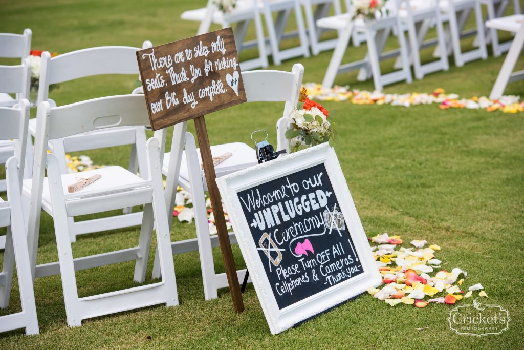 Ceremony Welcome Sign | Travel Themed Inspired Wedding Mission Inn Resort Orlando Florida Anna Christine Events Cricket's Photo & Cinema