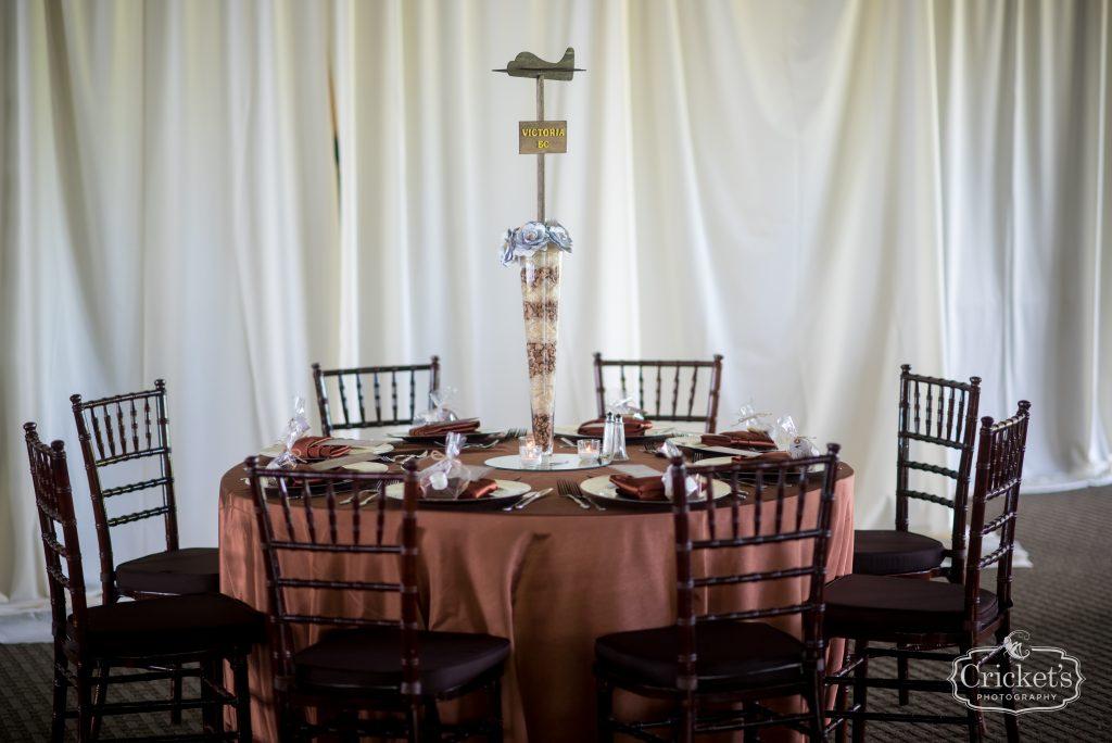 Reception Tables Airplane Centerpieces | Travel Themed Inspired Wedding Mission Inn Resort Orlando Florida Anna Christine Events Cricket's Photo & Cinema