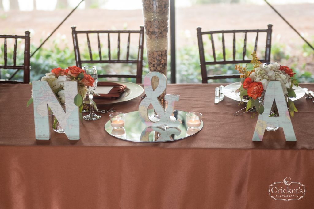 Mr & Mrs Sweetheart Table Cut-Outs | Travel Themed Inspired Wedding Mission Inn Resort Orlando Florida Anna Christine Events Cricket's Photo & Cinema