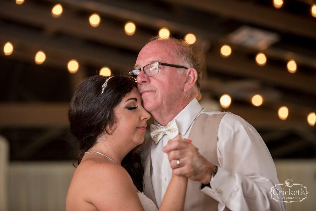 Father-Daughter Bride Dance | Travel Themed Inspired Wedding Mission Inn Resort Orlando Florida Anna Christine Events Cricket's Photo & Cinema