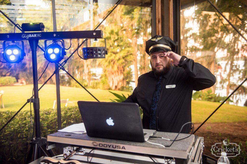 DJ Soundwave Entertainment Captain | Travel Themed Inspired Wedding Mission Inn Resort Orlando Florida Anna Christine Events Cricket's Photo & Cinema