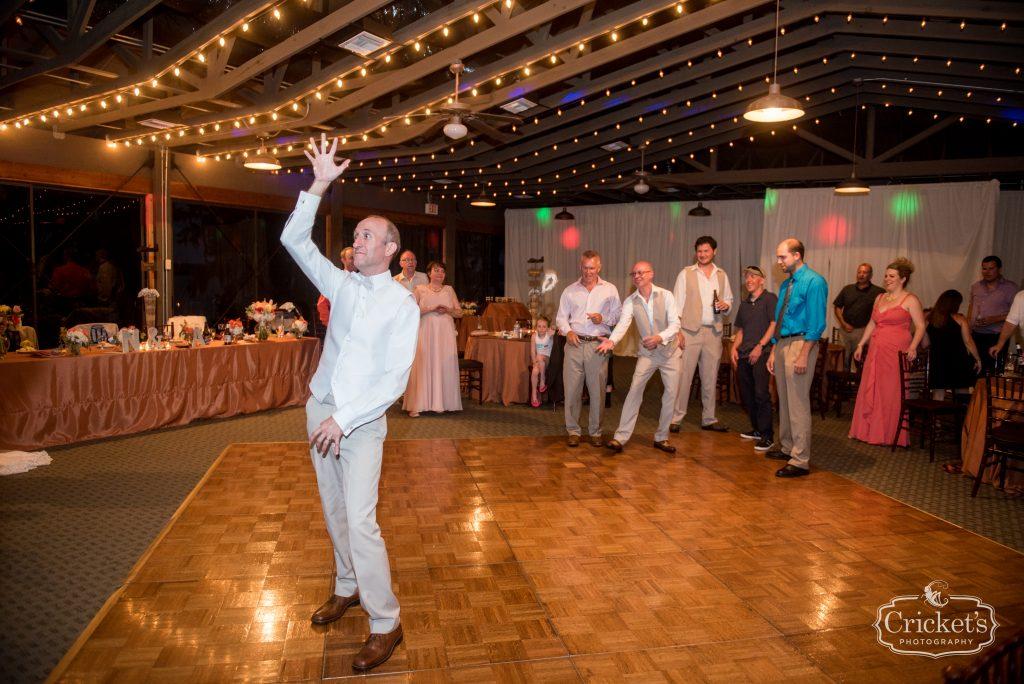Groom Garter Toss Reception | Travel Themed Inspired Wedding Mission Inn Resort Orlando Florida Anna Christine Events Cricket's Photo & Cinema
