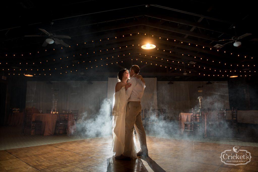 Bride & Groom Dance Smoke | Travel Themed Inspired Wedding Mission Inn Resort Orlando Florida Anna Christine Events Cricket's Photo & Cinema