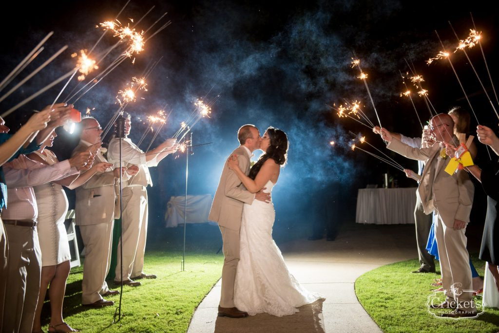 Sparkler Exit Grand Bride & Groom Kiss | Travel Themed Inspired Wedding Mission Inn Resort Orlando Florida Anna Christine Events Cricket's Photo & Cinema