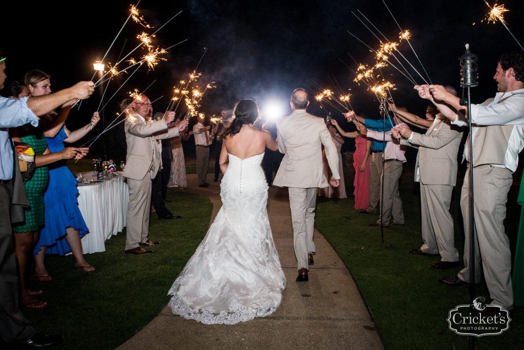 Sparkler Exit Grand Bride & Groom | Travel Themed Inspired Wedding Mission Inn Resort Orlando Florida Anna Christine Events Cricket's Photo & Cinema